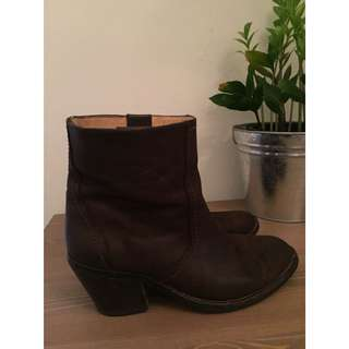 Brown Ankle Leather Boots From D.co Copenhagen