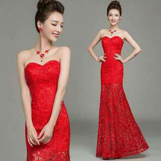 Red Lace Dress Size 8
