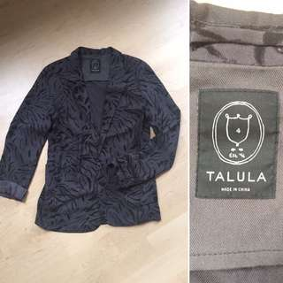 Talula Aritzia Sz 4 Grey With Black Cardigan/jacket