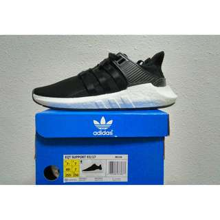 INSTOCK UK7 Adidas EQT Support 93/17 Core Black