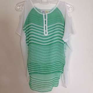 MnQ Green Straight Top