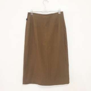 Beige Straight Skirt