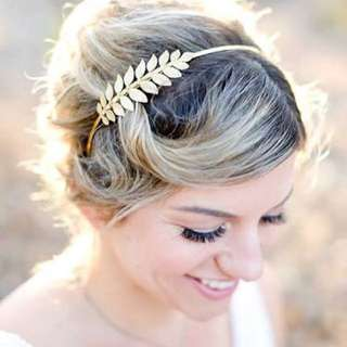 Goddess golden Leaf Headband Design#2
