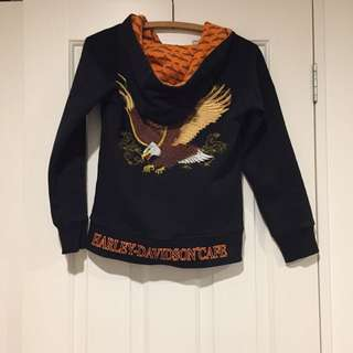 Harley Davidson Hoodie - Size Small (approx 6)