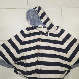 Batwing Top With Hoodie
