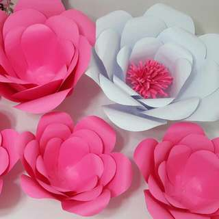 PAPER FLOWERS FOR BACKDROPS (Or Anything Needed)