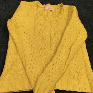 Federation Knit Jumper - Fluoro Yellowy Green
