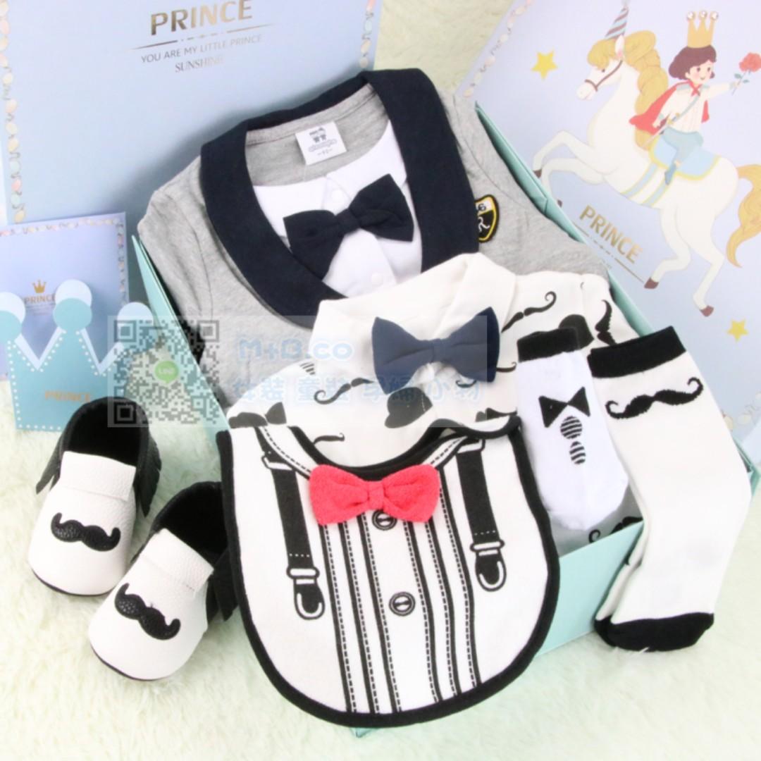 #預購童裝2館0521嬰兒童男寶寶紳士禮服滿月百日周歲禮物送禮-6件套-1