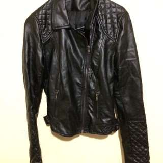 Leather Jacket Jaket Kulit Page One Size S Very Good Condition