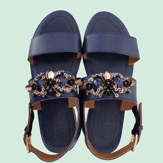 PVRA Shoes Duvva Heels Navy Size 39