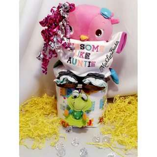 1 Tier Diaper Cake With Goodies