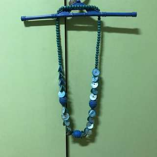 Nothing But h2o Blue Beaded Necklace