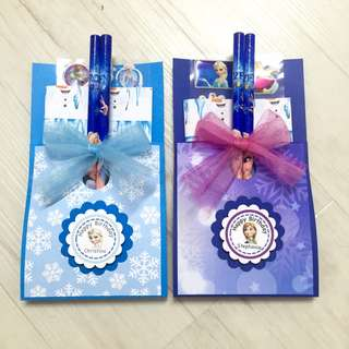 Frozen theme goodie bags / party favours - Frozen stationery set