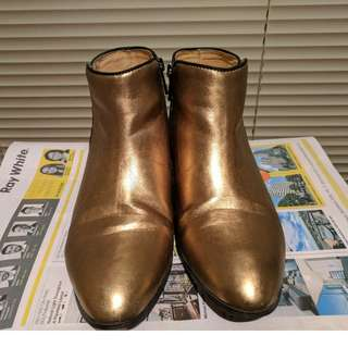 Bardot Booties in Gold Size 7