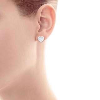 Tiffany & Co Heart Stud Earrings