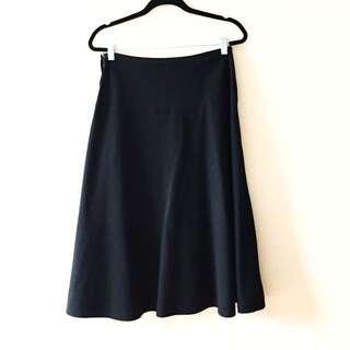 Black A-line Midi Skirt Gap, Size XS