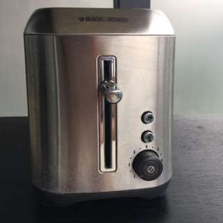 Stainless Steel Black And Decker Toaster