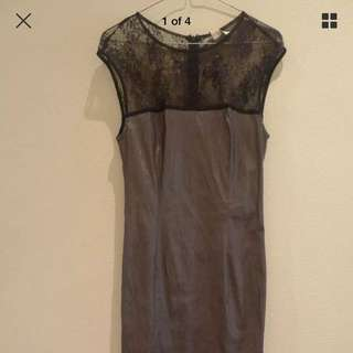 George Ermis Black And Grey Evening Gown