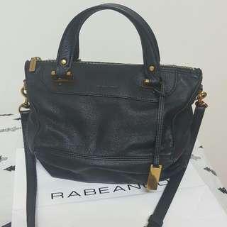 rabeanco黑色菱形包
