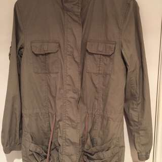 Grey/Khaki Military Jacket