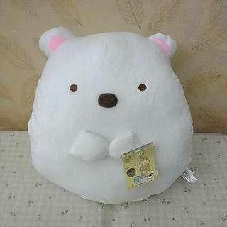超可愛角落生物暖手枕約30cm(白熊款)