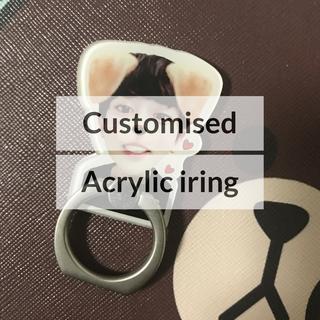 Customised Acrylic iring (min 30 pcs)