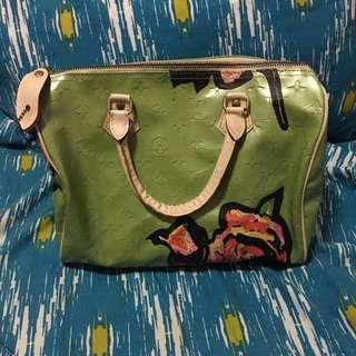 Louis Vuitton Green Floral Bag