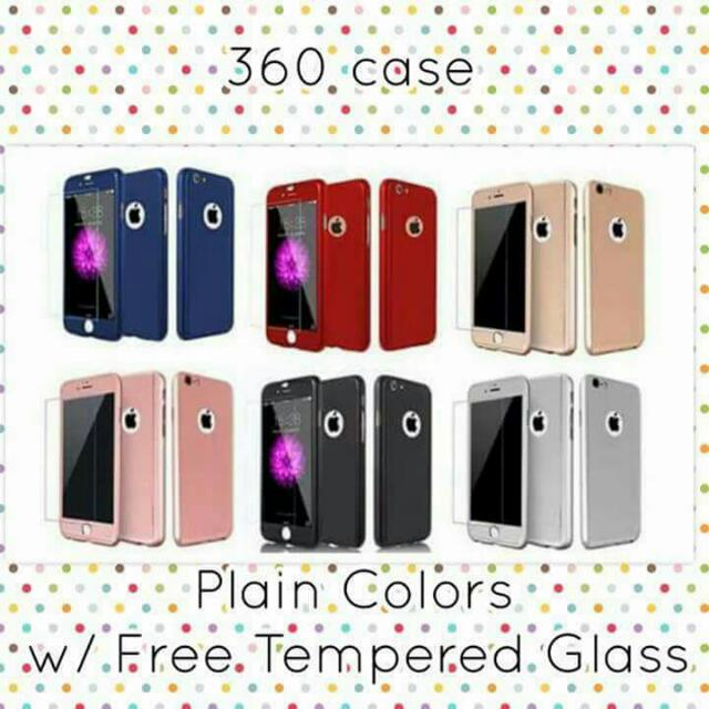 360 cases w/ tempered glass