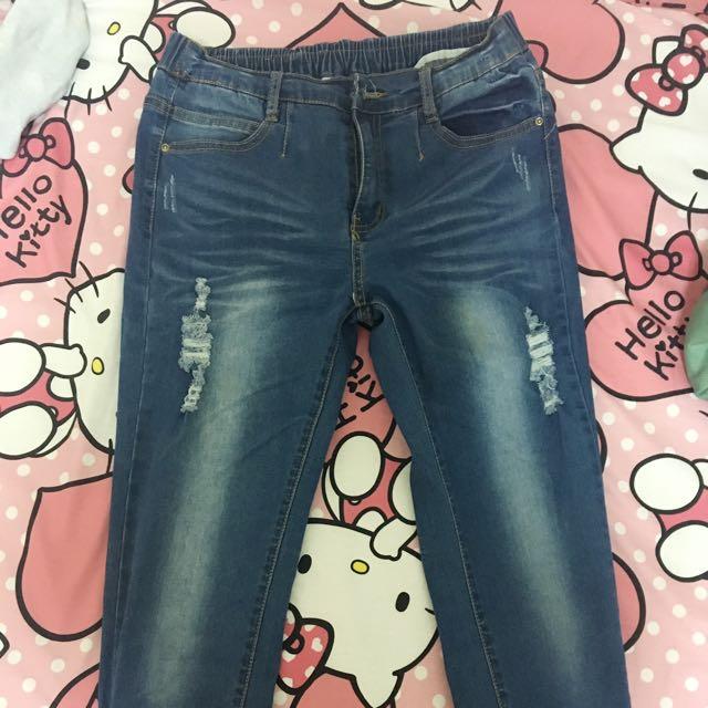 可換物)韓國帶回牛仔長褲