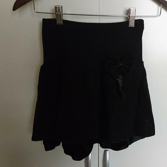 全新 蝴蝶結伸縮彈性短裙