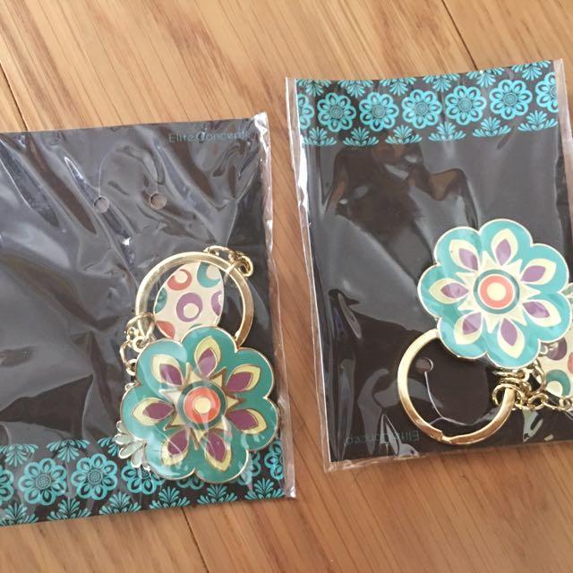 鑰匙圈 婚禮小物 幾何花