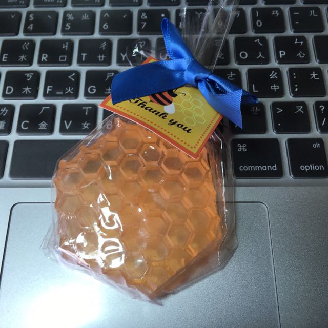 [新品]婚禮小物 蜂巢 手工皂 橘色