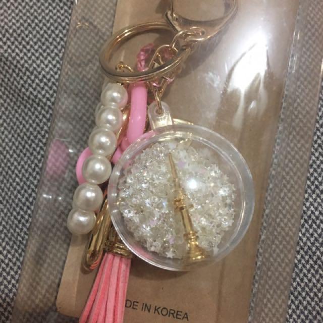 換物換物 韓國 夢幻水晶球吊飾 包包吊飾 或 鑰匙圈