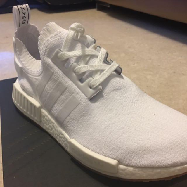 Adidas NMD R1 PK White Gum sole, Men's