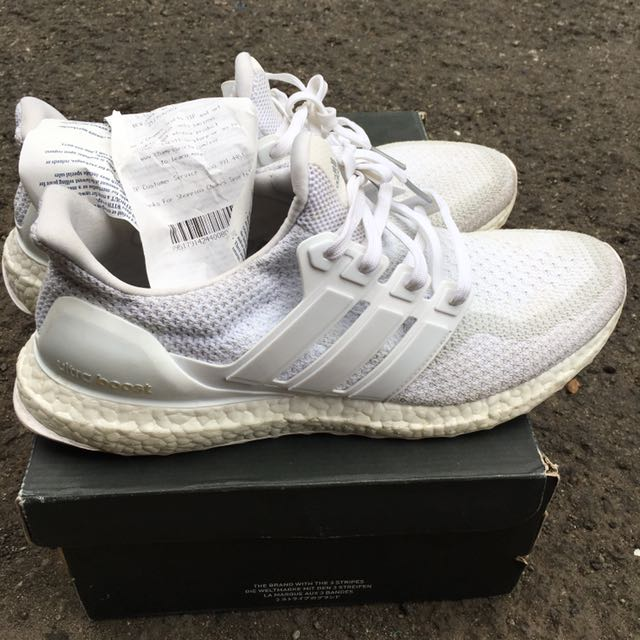 Adidas Ultraboost 2.0 All white size 44.5