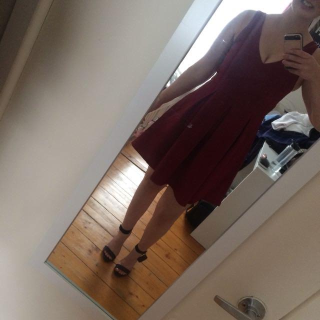 Ally Fashion Wine Dress