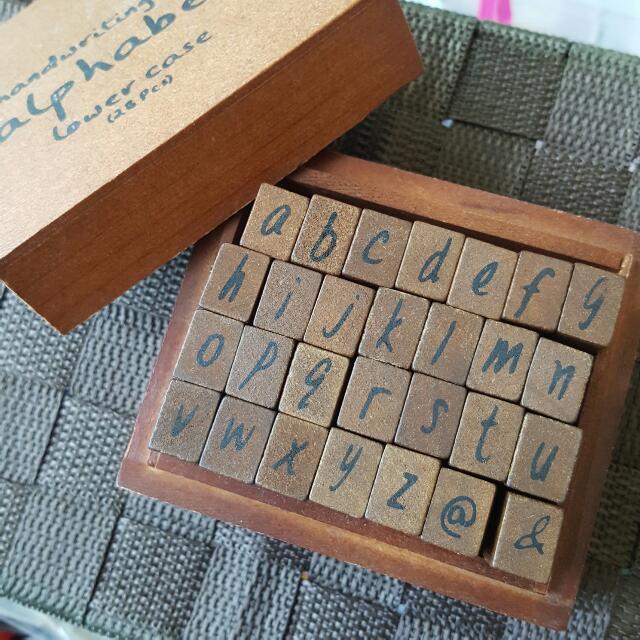 Alphabet Stamp Lower Case
