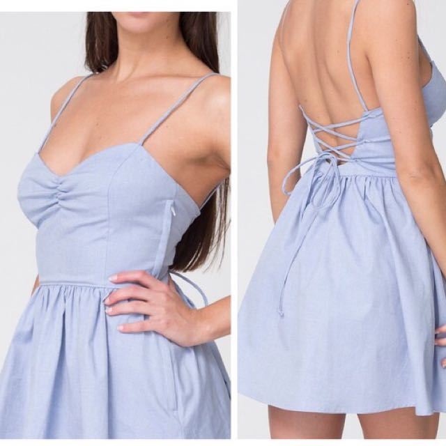 American Apparel Tie Back Dress