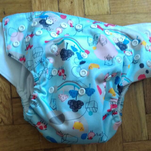 Animal Cloth Diaper With Insert