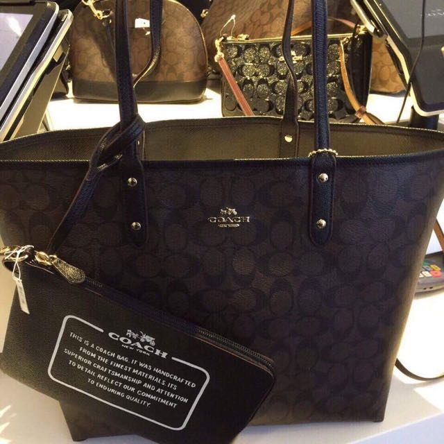cb4a16bbef Authentic Coach Reversible Tote