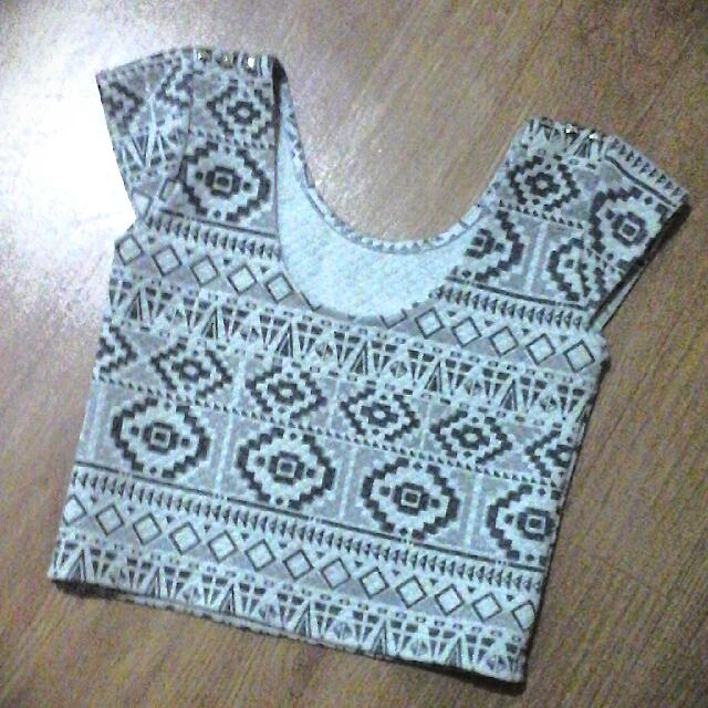 Aztec Fitted Croptop