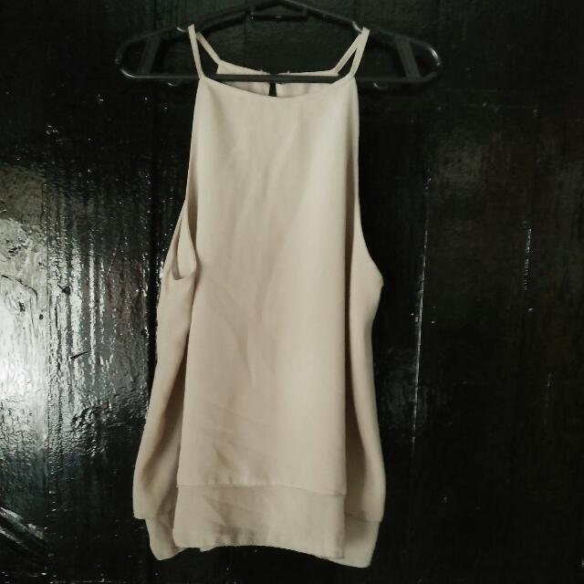 beige strings sleeveless