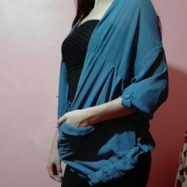 Blue Blazer/Cardigan