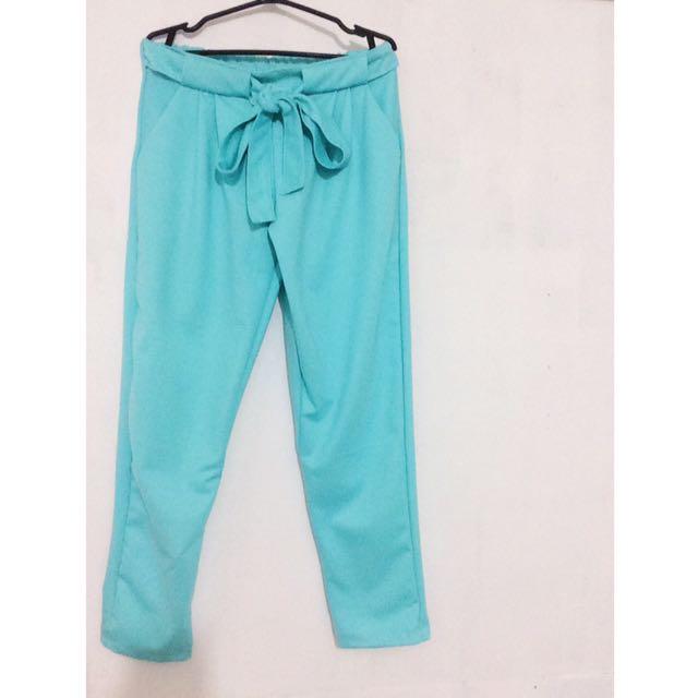 Blue Candy Tie Pants