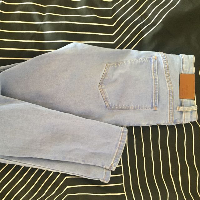 Blue Washed Denim Skinny Jeans