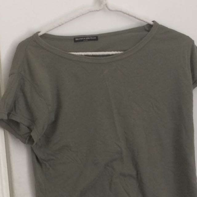 Brandy Melville Army Green Crop Top