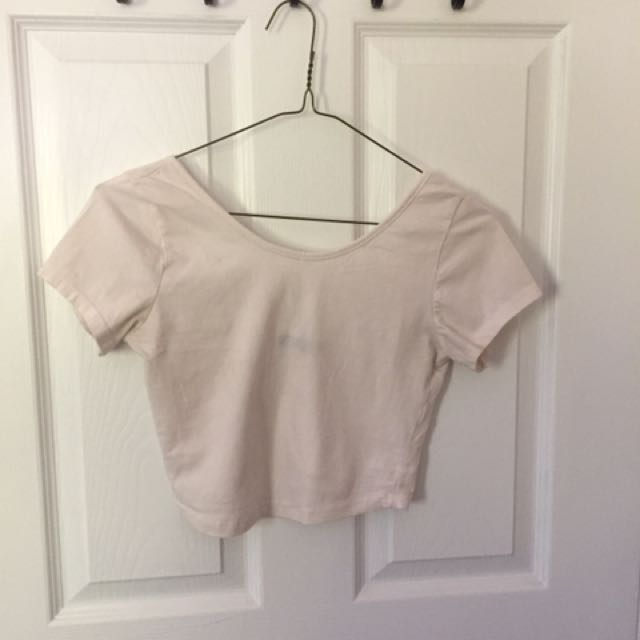 brandy melville pink cropped top