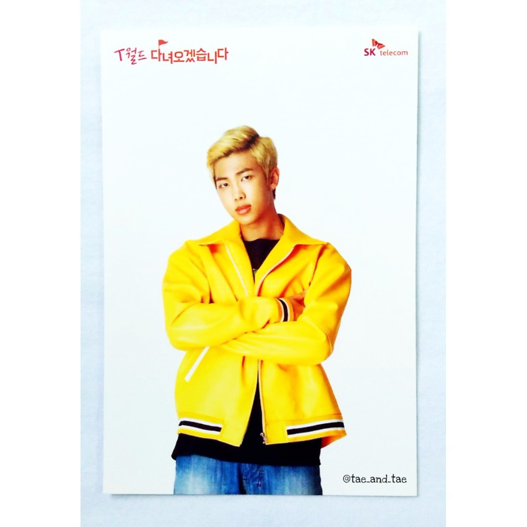 BTS Official SK Telecom Limited Postcards 2017 - Rap Monster