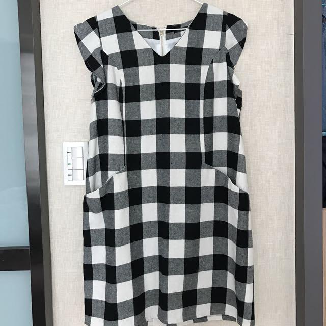 Cantwo✨格紋洋裝(近全新)