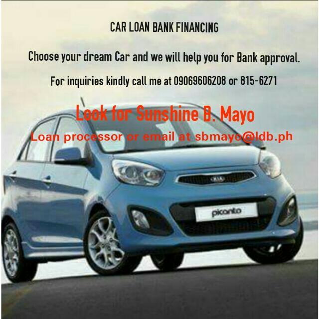 CAR LOAN BANK FINANCING